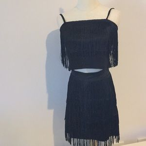 Fun Fringed two piece party dress